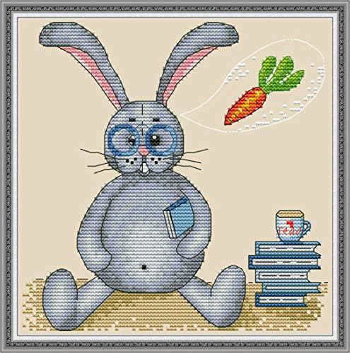 Good Value Cross Stitch Kits Beginners Kids - Fairy Tale Animals 11 CT 15