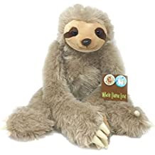 """Whole Llama Love Cuddle Sloth - Large 20"""" Super Soft Plush Stuffed Animal with Long Hanging Arms & Velcro Hands. Includes an adorable Sloth Pin. The Perfect Sloth Admirer Gift"""
