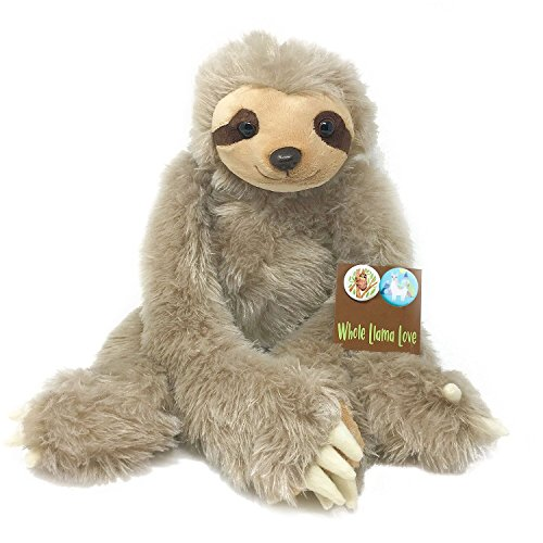 Whole Llama Love Cuddle Sloth   Large 20  Super Soft Plush Stuffed Animal With Long Hanging Arms   Velcro Hands  Includes An Adorable Sloth Pin  The Perfect Sloth Admirer Gift