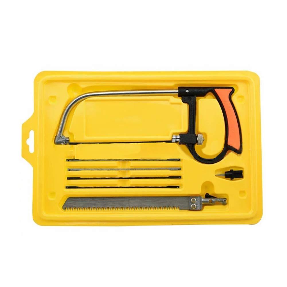 universal Holz multifunktional Hands/äge gelb 8-in-1 Mini-Hands/äge kleine Metalls/äge mit Koffer