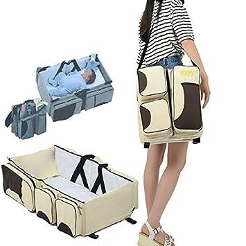 New N.Girl Multi Colored 3 Piece Diaper Bag