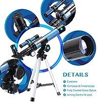 Aomekie Telescopio Astronomico Telescopio Niños con Trípode ...