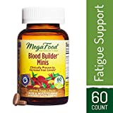 MegaFood - Blood Builder Minis, Support for Healthy Iron Levels, Energy, and Red Blood Cell Production Without Nausea or Constipation, Easy to Swallow, Vegan, Gluten-Free, Non-GMO, 60 Tablets