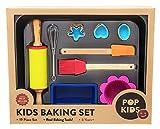 Pop Kids Baking Set for Family Fun Premium 19-Piece Kit for Children Learning to Bake