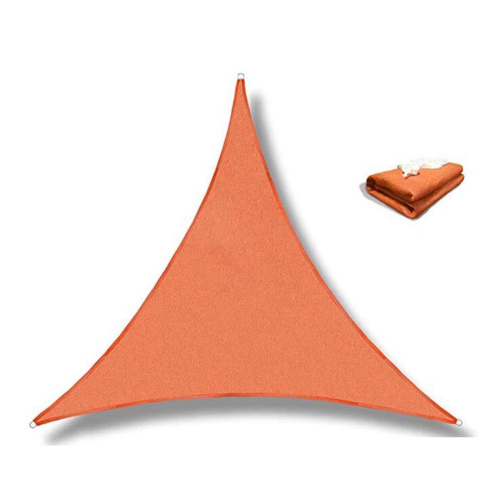 XIAOLIN 日陰の帆パティオのための三角形の紫外線ブロックの生地のおおいガーデンパティオの任意サイズ (色 : Orange, サイズ さいず : 5X5X5m) 5X5X5m Orange B07PJ6RPK4
