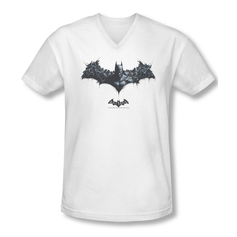 Mens BATMAN ARKHAM ORIGINS Short Sleeve BAT OF ENEMIES T-Shirt Tee Size S-2XL