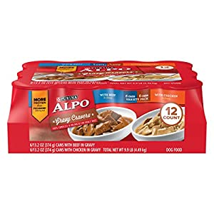 Purina ALPO Gravy Wet Dog Food Variety Pack; Gravy Cravers With Beef & With Chicken - (12) 13.2 oz. Cans 3