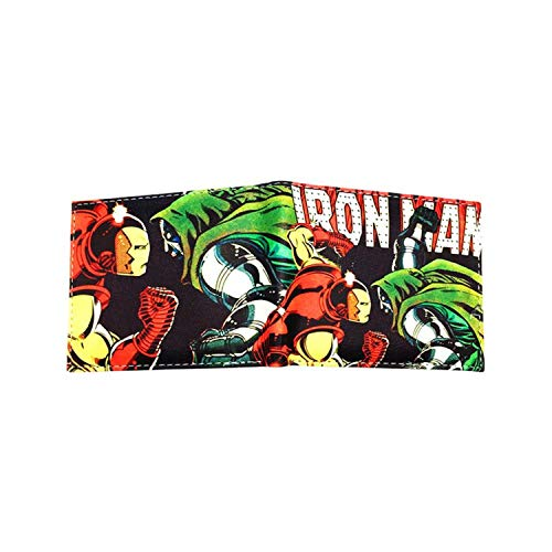 Iron Man and Dr Doom Mens Boys Comic Cartoon Wallet with Gift Box