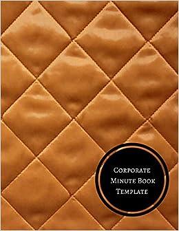 amazon com corporate minute book template minutes log
