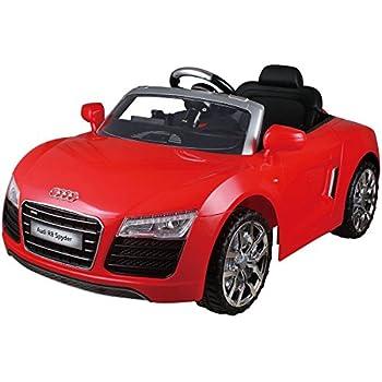 costzon audi r8 spyder 12v electric kids ride on car licensed mp3 rc remote control red