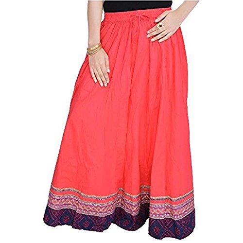 Red Women Light Skirt Red Length SMSKT502 Full wqOXxqrST