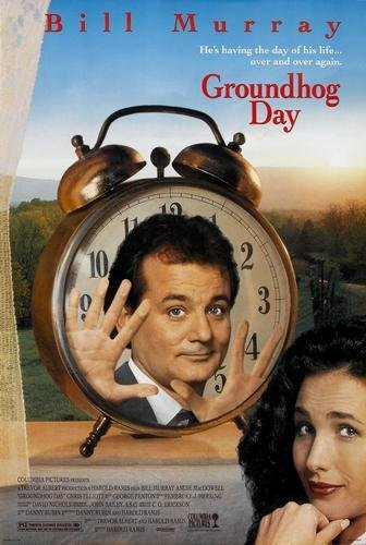 Image result for groundhog day movie poster amazon
