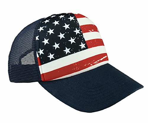Shop4Ever USA American Flag Hat ~ 4th of July ~ Patriotic Cap (Navy) (Visors Patriotic Foam)