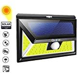 Quace Third Generation Launch Solar Lights Motion Sensor Security Lights, 54 COB LED Solar Powered Light with 3 Modes