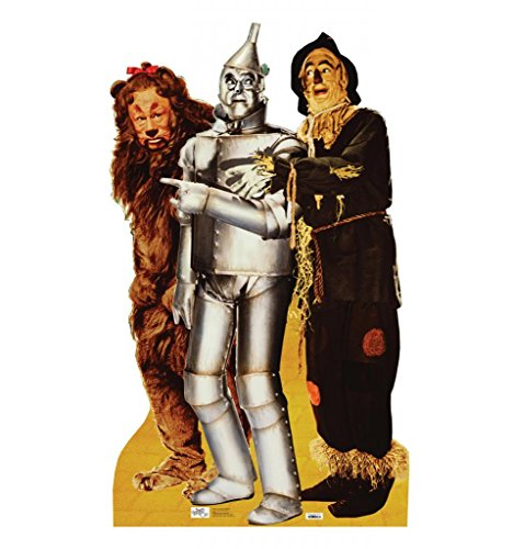 Make Tin Man Costume Wizard Oz (Lion, Tinman & Scarecrow - The Wizard of Oz 75th Anniversary (1939) - Advanced Graphics Life Size Cardboard Standup)