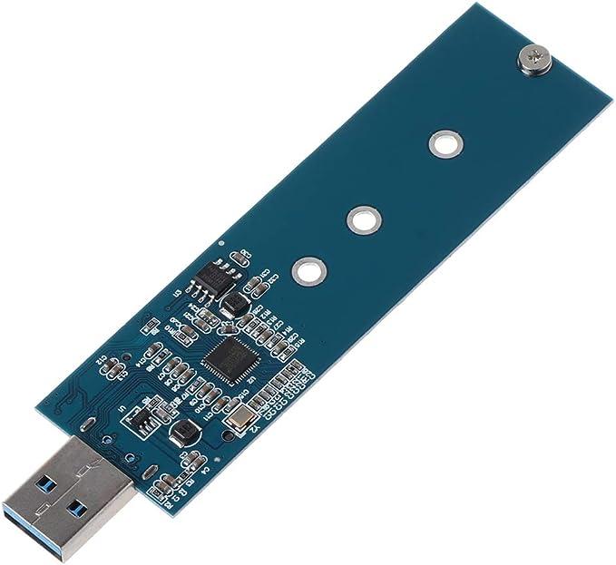 flowerPEI M.2 Adaptador USB M.2 SSD Lector de Tarjeta de Alta ...