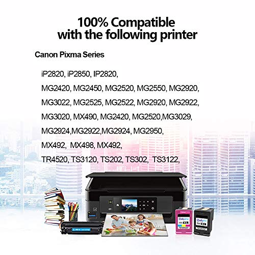 Tri-Color, 5 Pack SuperInk Remanufactured Ink Cartridge High Yield Compatible for Canon CL-246XL CL 246XL CL-244 Pixma MX492 MX490 TR4520 TS3120 MG2420 MG2522 MG2525 MG2920 MG2922 MG2520 MG3020