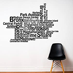 Amazoncom Wall Decal Vinyl Sticker Decals Art Decor Design New - New york wall decals
