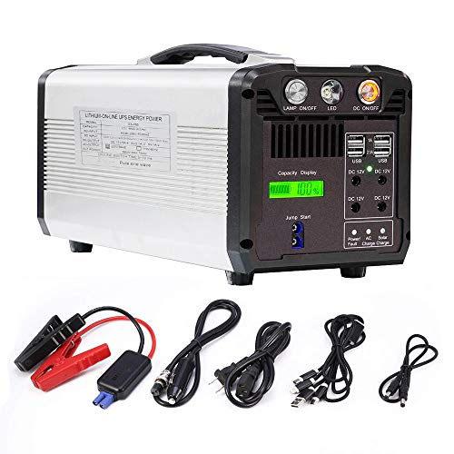 Portable Power Station 750W, 610Wh Backup Lithium Battery with 110V AC Outlet, 4 DC 12V Port, 4 USB, Solar Generators for Camping CPAP Emergency Home Outdoors Uncategorized