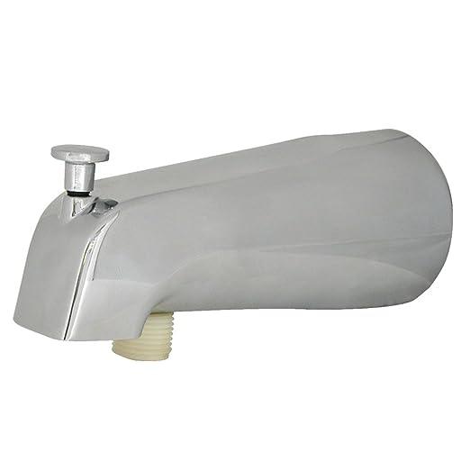 DANCO Universal Tub Spout with Diverter, Chrome, 1-Pack (89266 ...