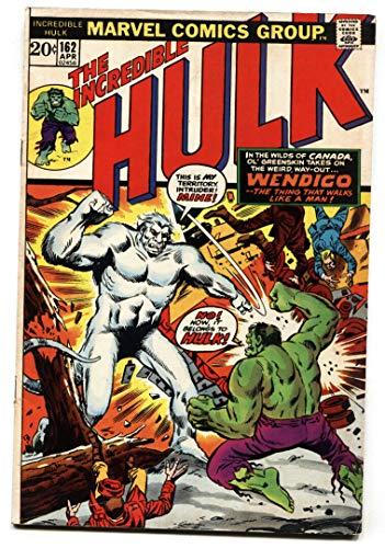 Incredible Hulk #162 comic book-marvel-first Wendigo. VG+
