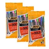 Bic Cristal Xtra Bold Stick Ballpoint Pens, 1.6mm, Bold Point, Assorted Colors, Pack of 24