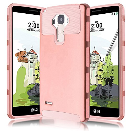 LG G Stylo/LS770  Case,Kmall 2in1 Hybrid Heavy Duty Case,Impact Resistant Shock-Absorption Case,Dual Layer Armor Full-Body Protective Case for LG G Stylo(Rose Gold)