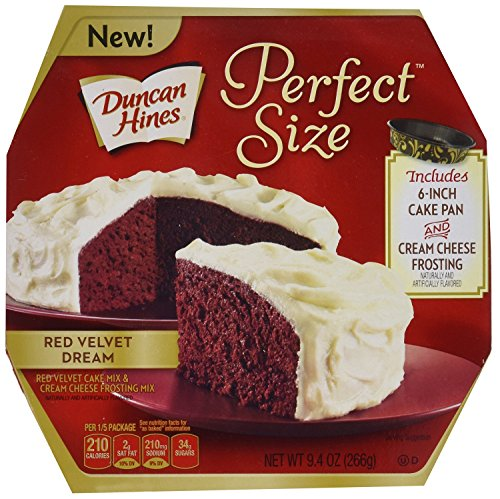 Duncan Hines Perfect Size Cake Mix, Red Velvet Dream, 9.4 ()