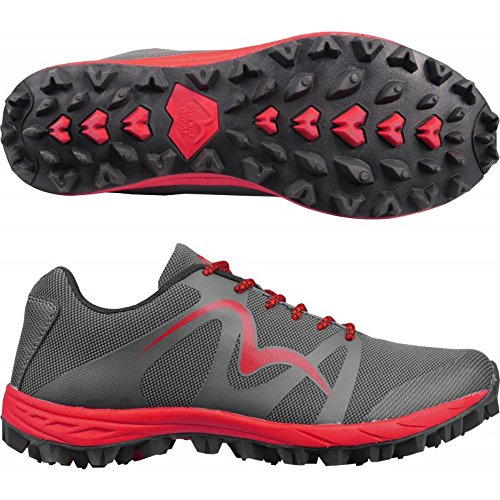 More Mile Cheviot 4 Mens Trail Running Shoes - Grey Red Grey Red DqIDsr2cl
