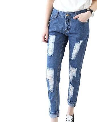 1b36c3de6f8f Damen Jeans Hose Damen Jeanshose Gummibund Skinny Jeans  Amazon.de   Bekleidung