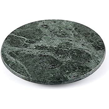 "Creative Home Natural Green Marble Lazy Susan, 12"" Diameter"