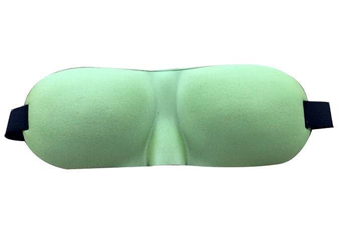 Vert Hosaire Masques de Sommeil Masque des Yeux relaxation Opaque Couleur Solid 3D Masque Cache Yeux pour Dormir pour Voyage ou Lors des Siestes lapr/ès-midi /Élastique r/églable