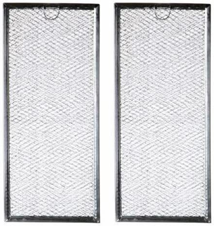 Microwave Grease Filter WB06X10596 Replacement For Many GE Microwaves (2-Pack)