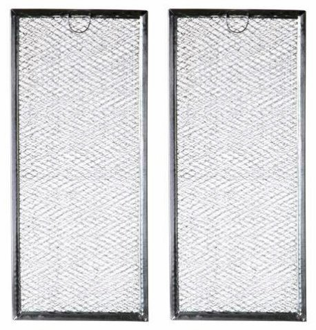 Microwave Grease Filter WB06X10596 Replacement For Many GE Microwaves (2-Pack) (Range Hood Grease Filter)