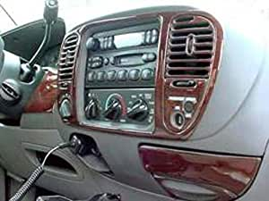 ford f 150 f150 f 150 interior burl wood dash trim kit set 1999 2000 2001 2002 2003. Black Bedroom Furniture Sets. Home Design Ideas