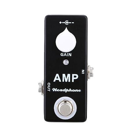 Andoer Guitarra Eléctrica de Amplificador de Auriculares y Mini Pedal Efecto Bass Solo Efecto con True