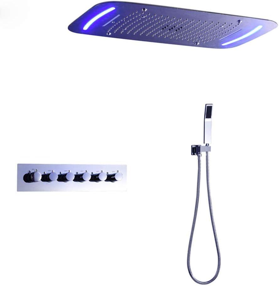 WYH Sistema de ducha de lluvia con LED Montaje en el techo ...