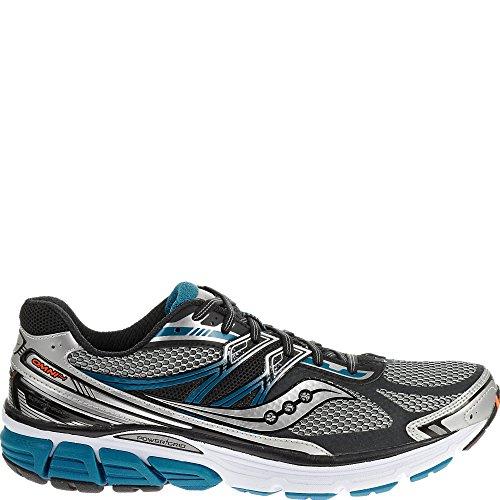 Saucony Men's Omni 14 Running Shoe, Silver/Blue,12 M US
