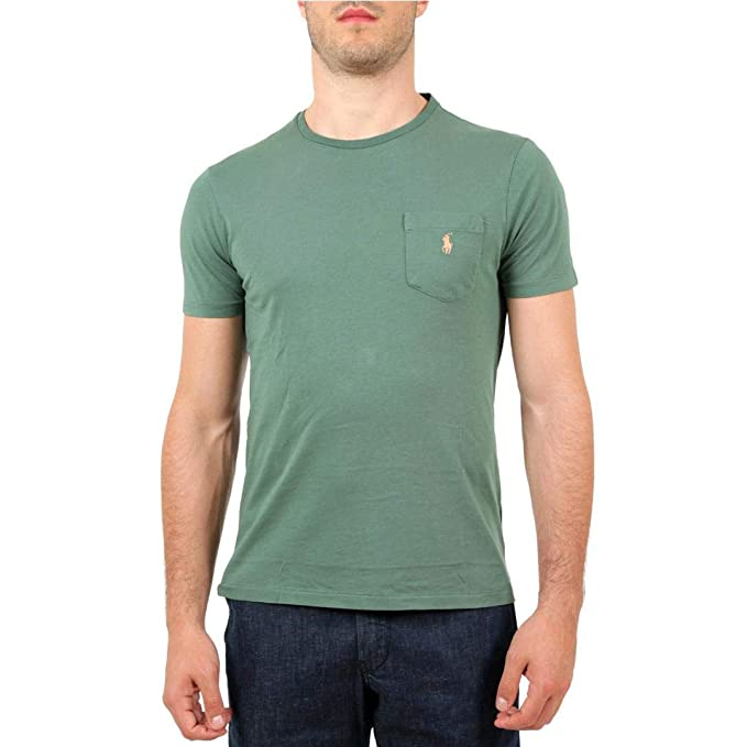 finest selection a316d eea29 Polo Ralph Lauren T-Shirt con Taschino Uomo MOD. 710671501 ...