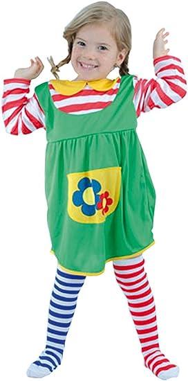 El Carnaval Disfraz Pipi peques niña 2-4 años: Amazon.es ...
