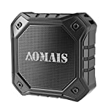 AOMAIS Ultra Portable Wireless Bluetooth Speakers with 8W Output Loud Sound,Waterproof IPX7 Floating,Stereo Pairing,for iPhone7/iPod/iPad/Samsung/Cell Phones/Tablets/PC/Laptop(Black)