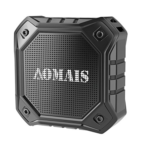 AOMAIS Ultra Portable Wireless Bluetooth Speakers with 8W Loud Sound, Waterproof IPX7 Shower Speaker ,Stereo Pairing for Echo Dot, iPhone, iPod, Laptop(Black)