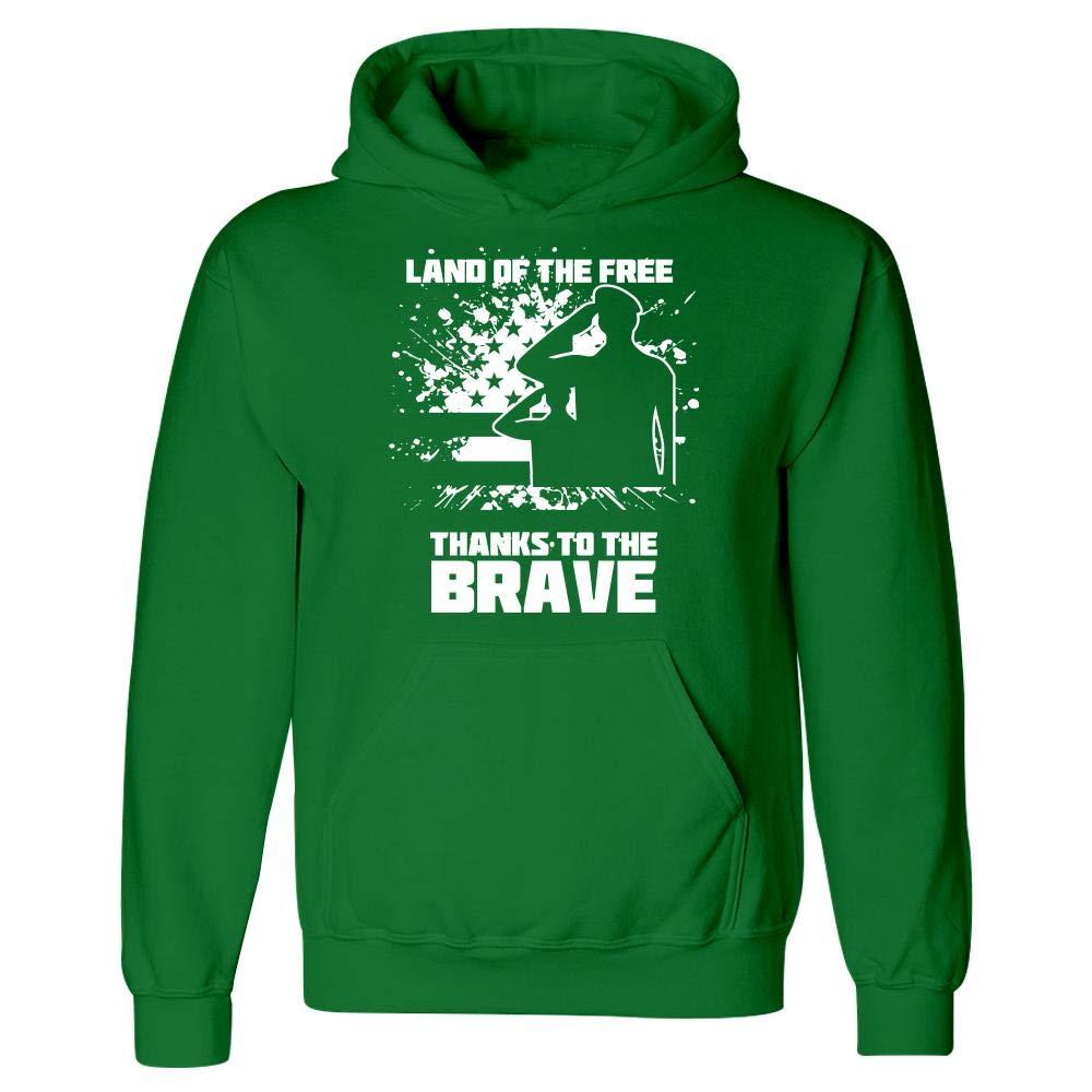 USA Patriotic Proud Veterans Day Hoodie Peyton Winks Land of Free Thanks to The Brave