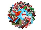 "80 5"" Beautiful Christmas Charm Pack # 1- 20 DIFFERENT PRINTS-4 OF EACH #1"