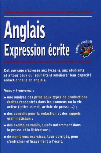 Amazon Fr Bordas Langues Expression écrite Anglaise