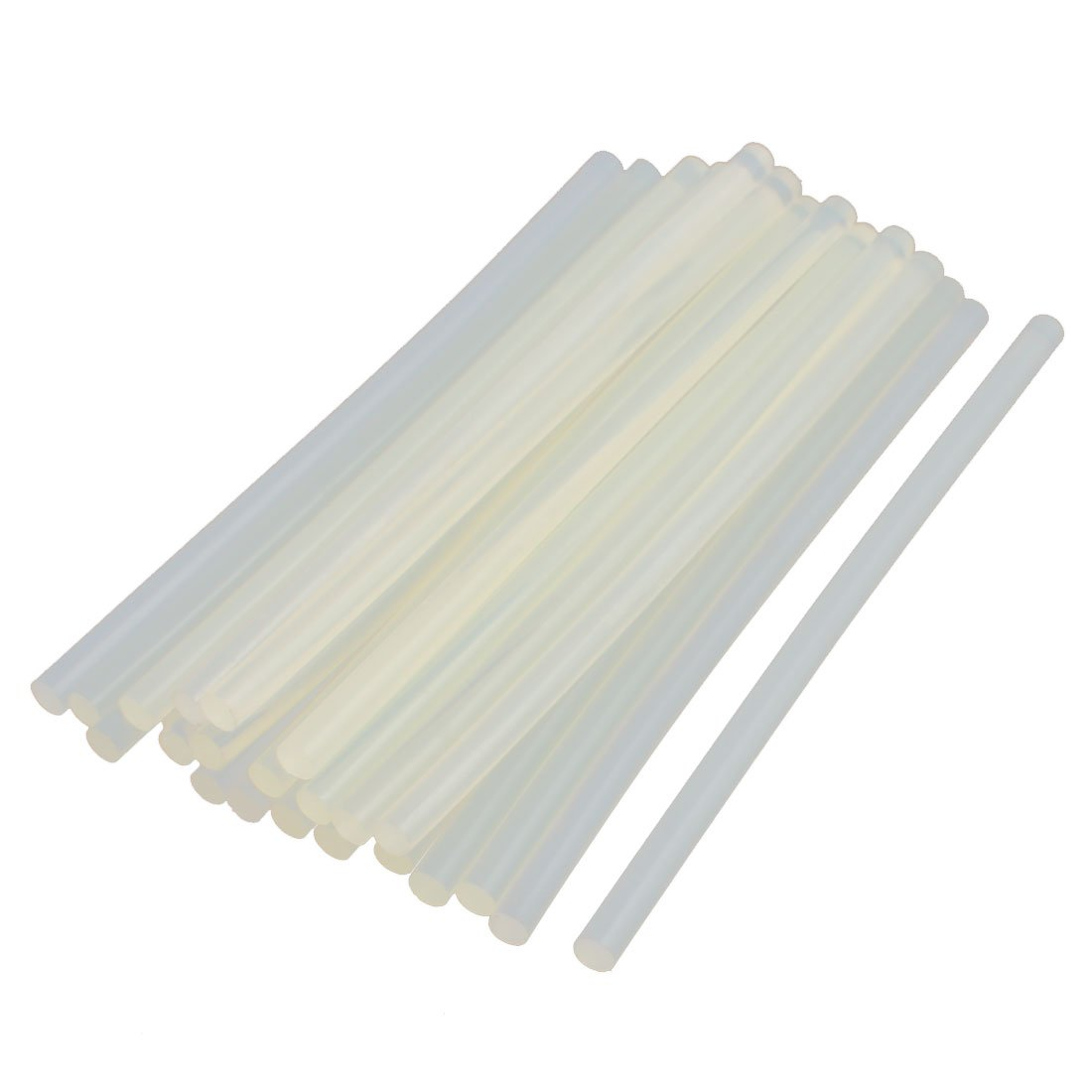 uxcell 23 Pcs White Translucence 7mm Dia Soldering Iron Hot Melt Glue Stick 168mm Length