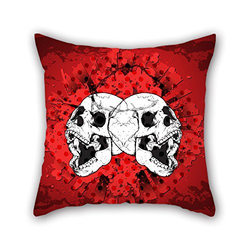 MaSoyy Throw Pillow Covers 20 X 20 Inches / 50 By 50 Cm(twin Sides) Nice Choice For Home Theater Boy Friend Festival Father Gf Her Skull