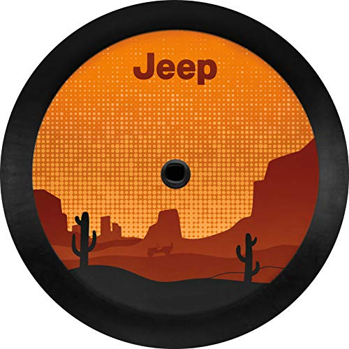 Mopar 82215441 Desert Themed Logo Cloth Spare Tire Cover Jeep Wrangler