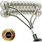"""Gven Grill Brush Bristle Free- BBQ Grill Cleaning Brush And Scraper- Safe 18"""" Weber Grill Cleaning Kit for Stainless Steel, Ceramic, Iron, Gas & Porcelain Barbecue Grates"""