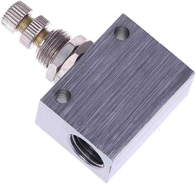 SUOFEILAIMU-VALVES 1pc Pt 1//8 inch Thread Bore 1 Way Flow Control Valve ASC100-06